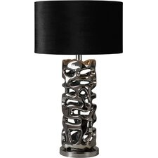 """Molded 28"""" H Table Lamp with Drum Shade"""