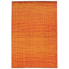 Expressions Abstract Orange Area Rug