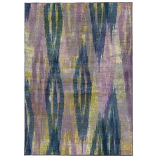Prismatic Abstract Purple & Blue Area Rug