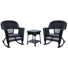 3 Piece Wicker Rocker Seating Group