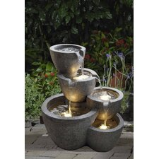 Polyresin and Fiberglass Muiti Pot Fountain