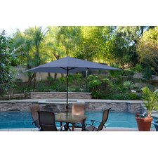 6.5' x 10' Rectangular Patio Market Umbrella