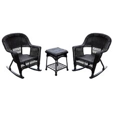 Wicker Rocking Chair (Set of 2)