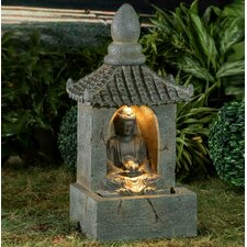 Polyresin and Fiberglass Buddha Water Fountain with Led Light