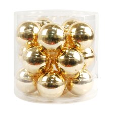 Glass Baubles Ball Ornament (Set of 15)