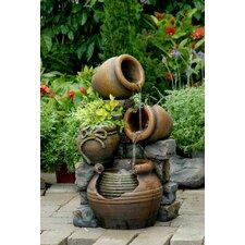 Polyresin and Fiberglass Multi Pots Fountain
