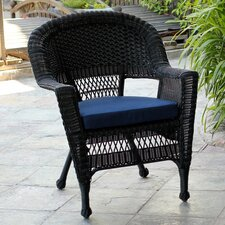 Wicker Chair with Cushion (Set of 2)