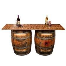 Double Half Barrel Pub Table