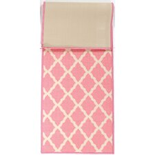 Pink Contemporary Pink Morroccan Trellis Area Rug