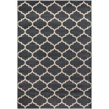 Regal Contemporary Moroccan Trellis Grey Area Rug