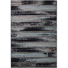 Regal Contemporary Abstract Blue/Grey Area Rug