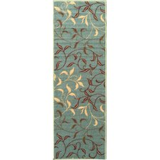 Ottohome Sage Green Area Rug