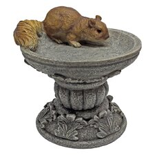 Statue Squirrel on Pedestal