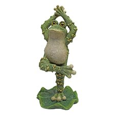Statue Boogie Down Dancing Frog with Hands Up