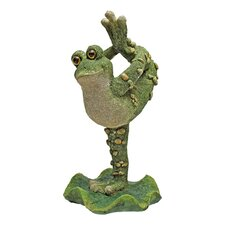 Statue Boogie Down Dancing Frog with Leg Up