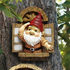 Statue Knothole Gnome Window