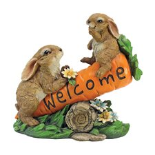 Statue Bunny Bunch Welcome