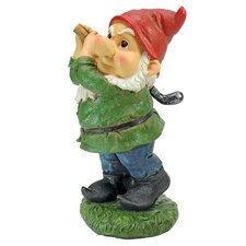 Gnome Playing Golf Statue