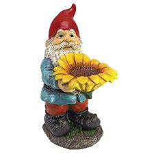 Garden Division Sunflower Sammy Gnome Statue
