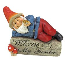 Gideon Gnome Welcome Sign Statue