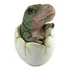 Baby Tyrannosaurus Dino Egg Statue