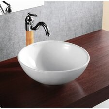 Porcelain Deep Bowl Vessel Sink