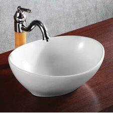 Porcelain Oval Deep Bowl Vessel Sink