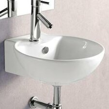 Porcelain Wall Mounted Deep Bowl Sink