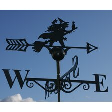 Witch and Cat Weathervane