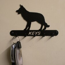 Alsatian 15cm Key Holder