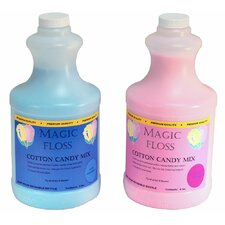 4 lbs Magic Floss Sugar in Easy Pour Bottle (Set of 6)