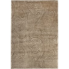 Highclere Pale Nutmeg Brown/White Area Rug