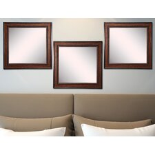 Ava Country Pine Wall Mirror (Set of 3)