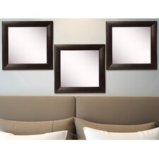 Ava Leather Wall Mirror (Set of 3)