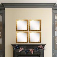 Ava Gold Stone Wall Mirror (Set of 4)