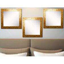 Ava Gold Stone Wall Mirror (Set of 3)