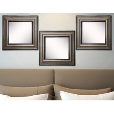 Ava Antique Silver Wall Mirror (Set of 3)