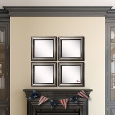 Ava Antique Silver Wall Mirror (Set of 4)
