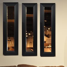 Molly Dawn Solid Black Angle Mirror Panel