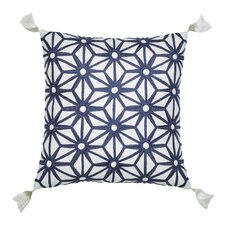 Greek Key Decorative Cotton Throw Pillow
