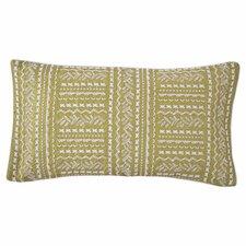 Grandiflora Line Embroidered Decorative Lumbar Pillow