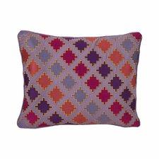 Ziggurat Diamond Geo Embroidered Decorative Throw Pillow