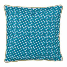 Grandiflora Floral Embroidered Decorative Throw Pillow