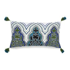Pondicherry Embroidered Decorative Cotton Breakfast Pillow