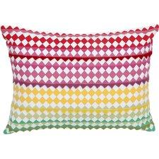 English Bloom Felt Triangle Decorative Cotton Boudoir/Breakfast Pillow