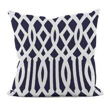 Geometric Decorative Synthetic Throw Pillow
