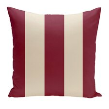 Holiday Brights Striped Throw Pillow