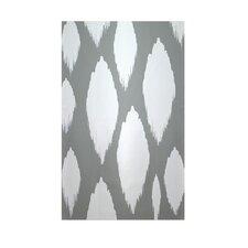 Decorative Ikat Grey & White Area Rug