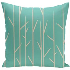 Floral Woven Polyester Throw Pillow