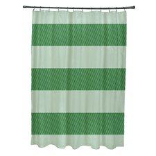 Coastal Calm Stripes Shower Curtain
